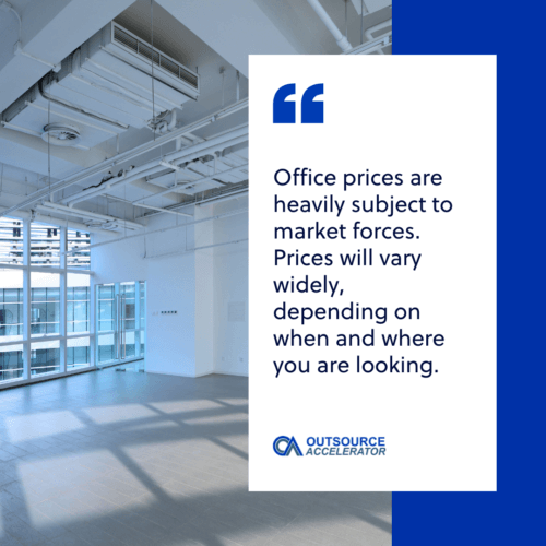 Office rental rates in the Philippines