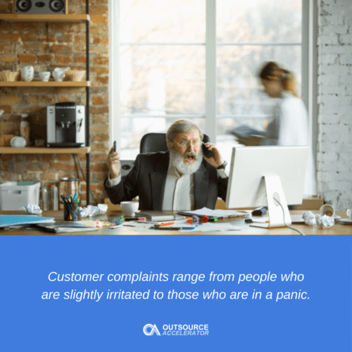 Definition of Complaints in the Call Center
