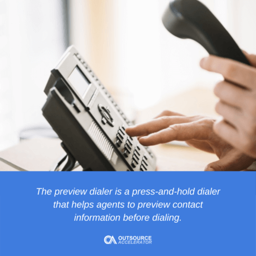 Definition of Preview Dialer