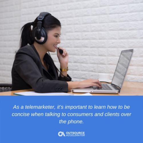 The role of a telemarketer