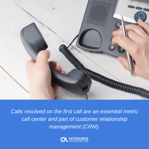 What are Calls Resolved on the First Call