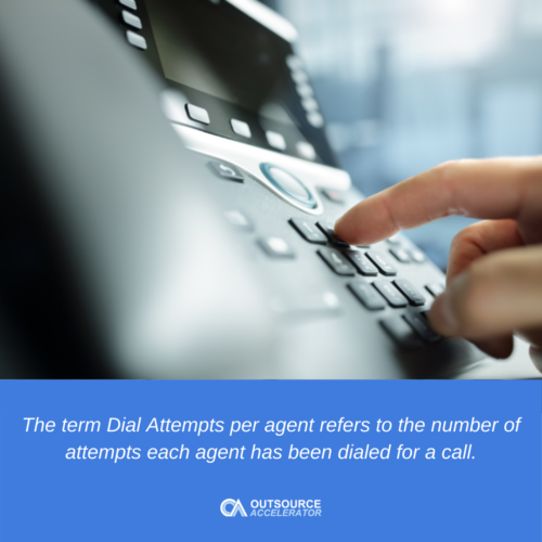 What are dial attempts?