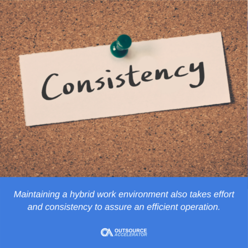 Tips to maintain efficiency in a hybrid work arrangement