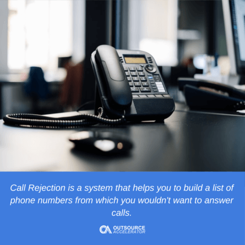 What is rejection in a call center?