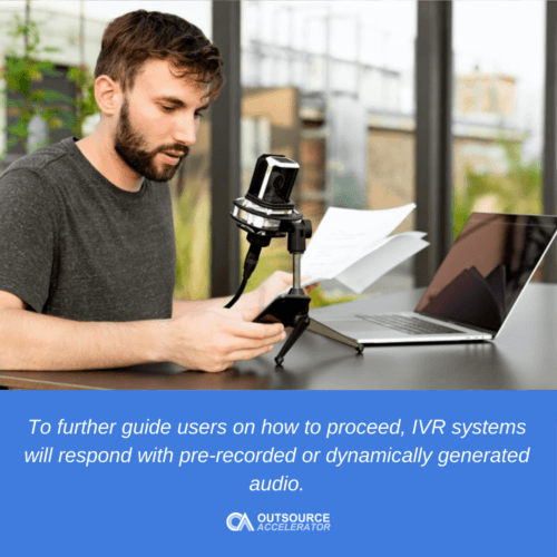 What are calls handled by IVR?