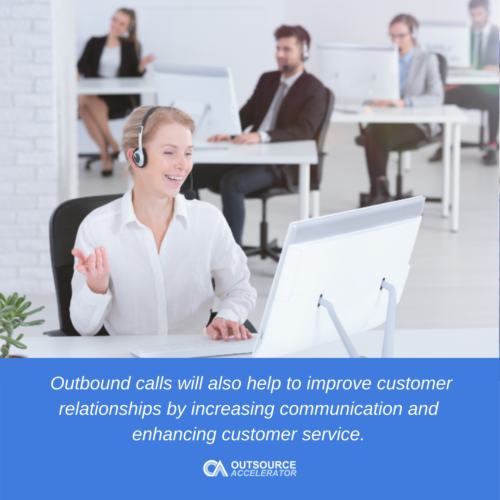 Importance of calls handled by agent-outbound