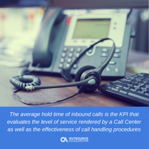 What is the average hold time of inbound calls?