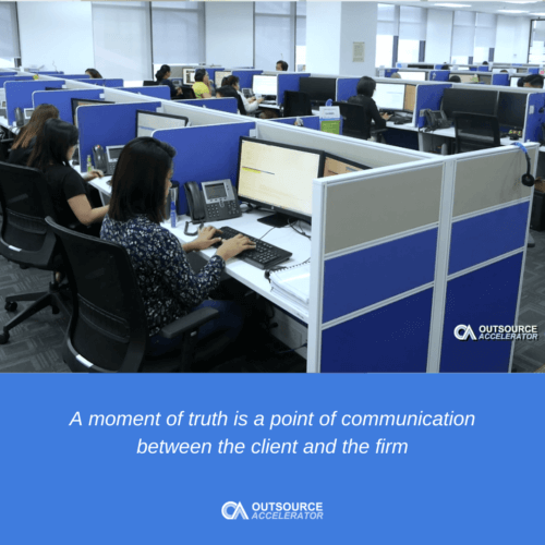 What is the moment of truth in call centers?