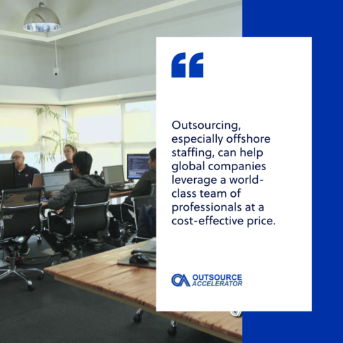 How big are the outsourcing and offshoring industries