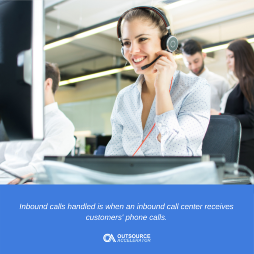 What are inbound calls handled?