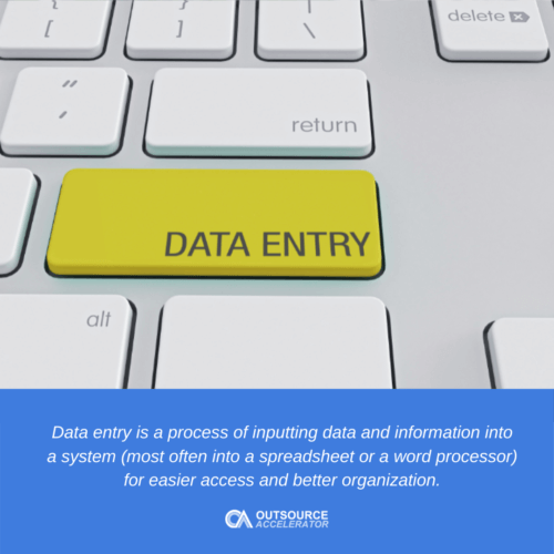 What is data entry?