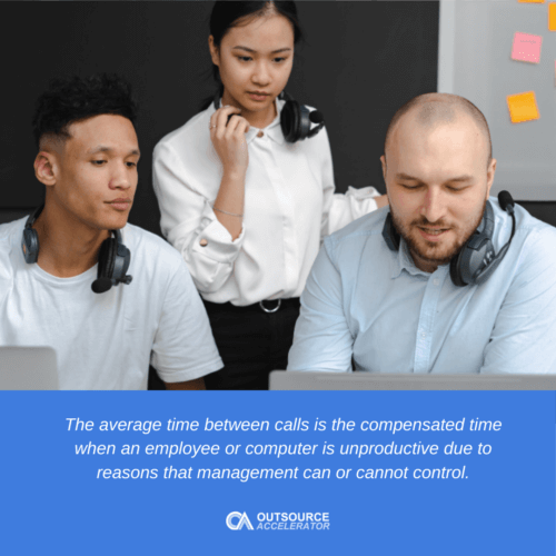 What is the average time between calls?