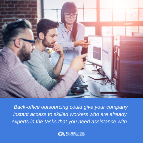Advantages of back-office outsourcing