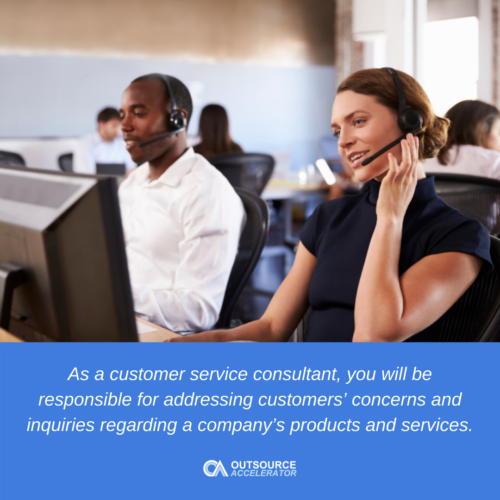 What does a customer service consultant do?