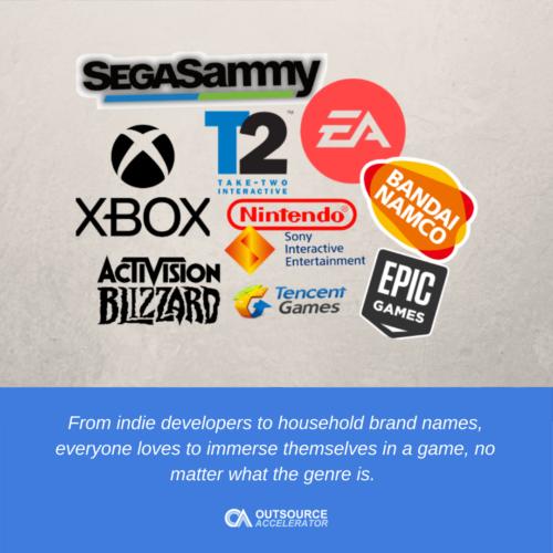 Top 10 biggest gaming companies