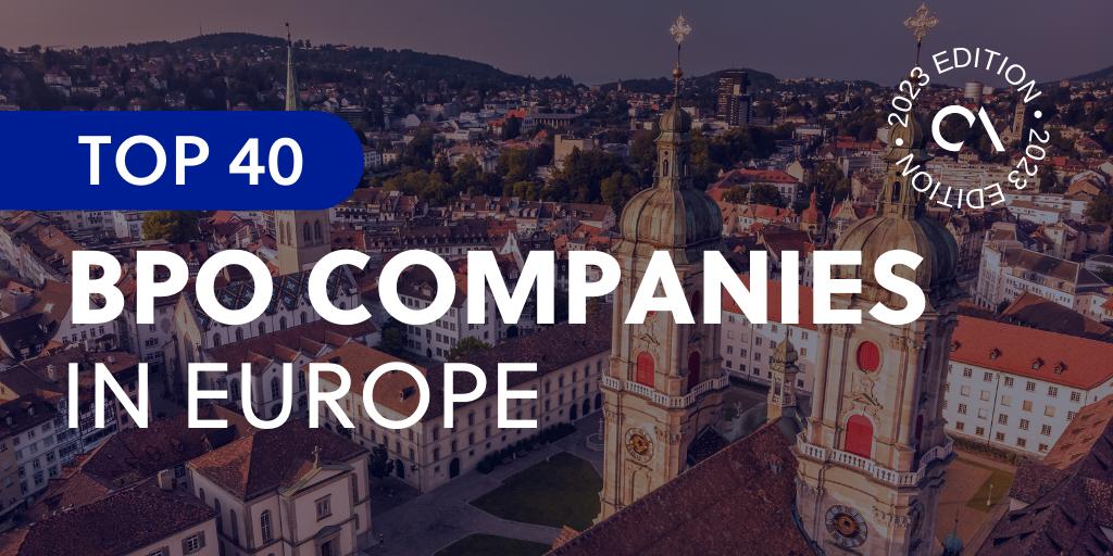 Top 40 BPO companies in Europe