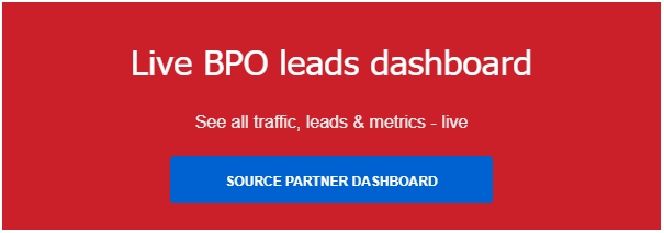 Live BPO leads dashboard