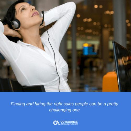 Outsourcing sales representatives