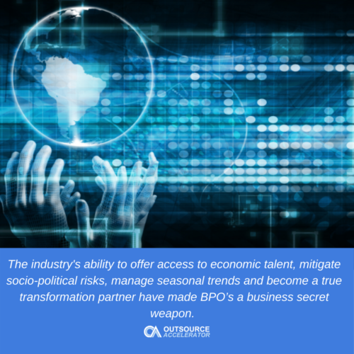 Significant changes in the outsourcing industry