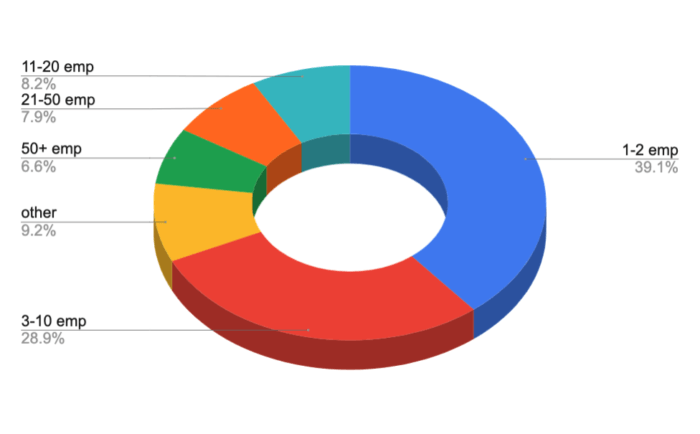Size of clients' company