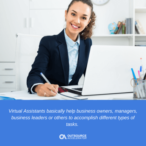 What are the roles of a virtual assistant