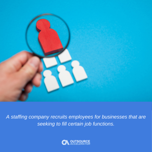 What does a staffing company do