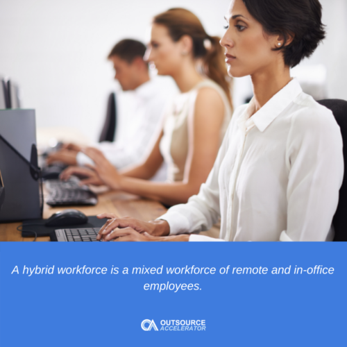 What is a hybrid workforce