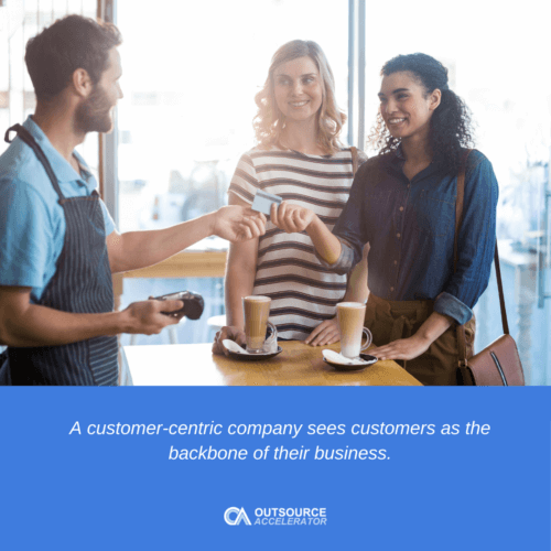 What is a customer-centric culture?
