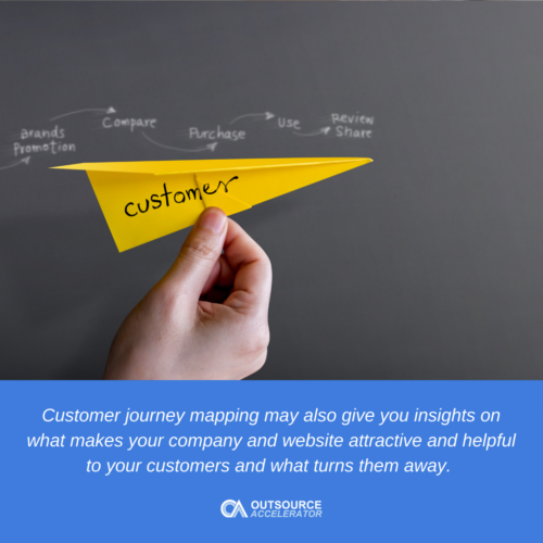 a hand holding a paper plane to demonstrate customer journey mapping