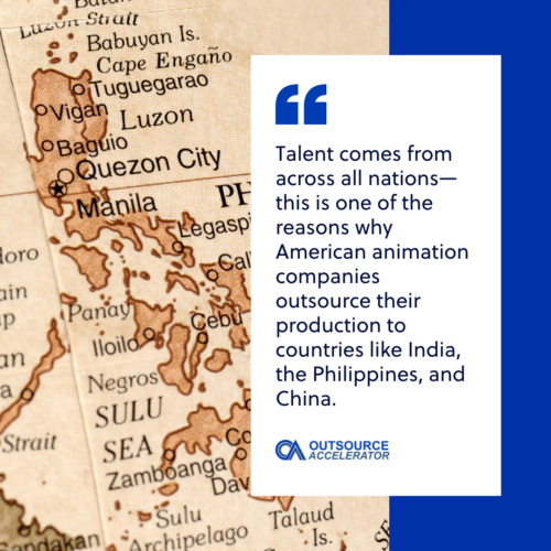 map of the Philippines as one destination in animation outsourcing
