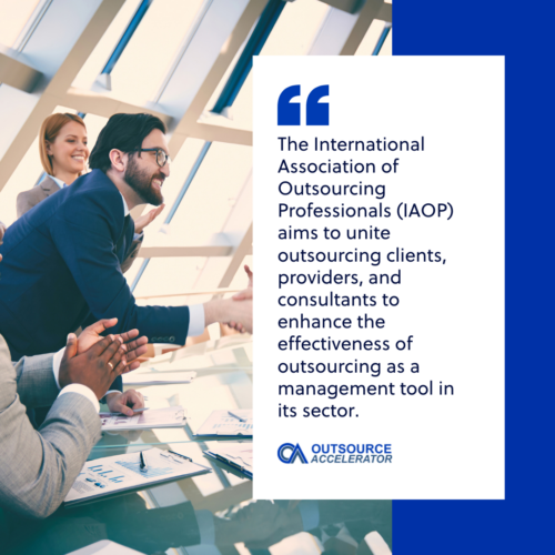 What is the International Association of Outsourcing Professionals (IAOP)