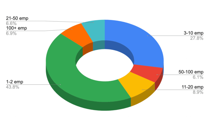 size of clients company